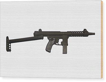 Star Z70b 9mm Submachine Gun Wood Print by Andrew Chittock