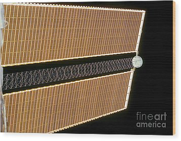 Starboard Solar Array Wing Panel Wood Print by Stocktrek Images