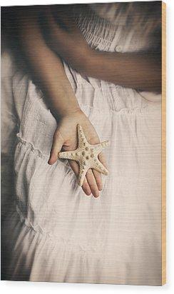 Starfish Wood Print by Joana Kruse