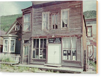 Wood Print featuring the photograph Stark Bros Store by Bonfire Photography
