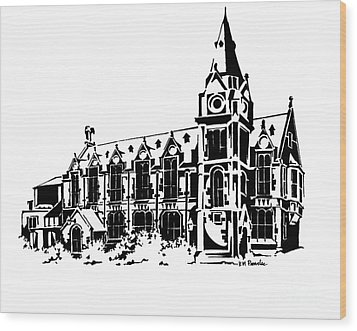Stark Contrast Wood Print by K M Pawelec