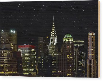 Starry Night Wood Print by Janet Fikar