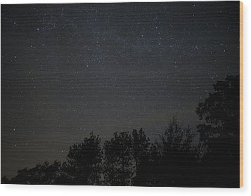 Starry Night Wood Print by Sara Hudock