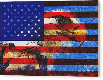 Starry Nights In America . 40d6715 Wood Print by Wingsdomain Art and Photography