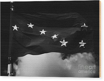 Starry Plough Flag Irish National Liberation Army Inla Ireland Wood Print by Joe Fox