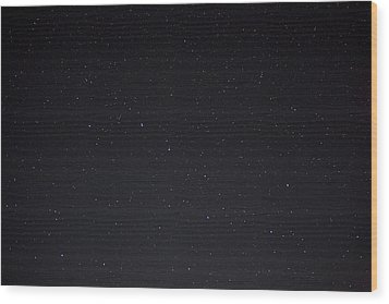 Stars And The Big Dipper On A Clear Wood Print by Taylor S. Kennedy