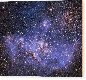 Stars And The Milky Way Wood Print by Don Hammond