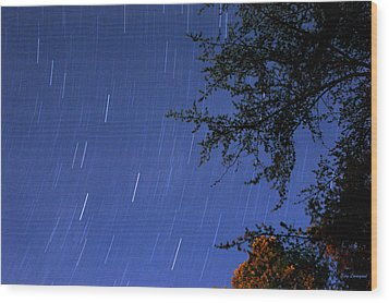 Wood Print featuring the photograph Stars Falling by Kay Lovingood