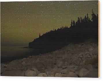 Wood Print featuring the photograph Stars Over Otter Cliffs by Brent L Ander