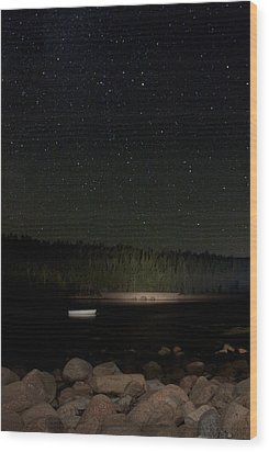 Stars Over Otter Cove Wood Print by Brent L Ander