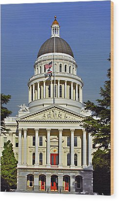 State Capitol Building Sacramento California Wood Print by Christine Till