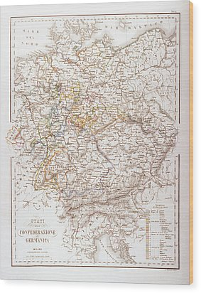 States Of The German Confederation Wood Print by Fototeca Storica Nazionale