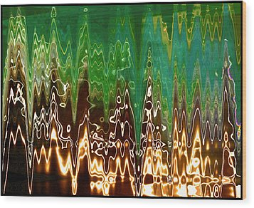 Static Frequency Wood Print by Ginny Schmidt
