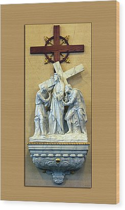 Station Of The Cross 02 Wood Print by Thomas Woolworth
