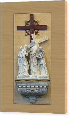 Station Of The Cross 04 Wood Print by Thomas Woolworth