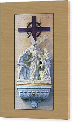 Station Of The Cross 08 Wood Print by Thomas Woolworth