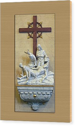 Station Of The Cross 11 Wood Print by Thomas Woolworth