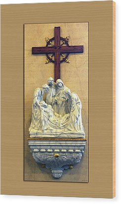 Station Of The Cross 14 Wood Print by Thomas Woolworth