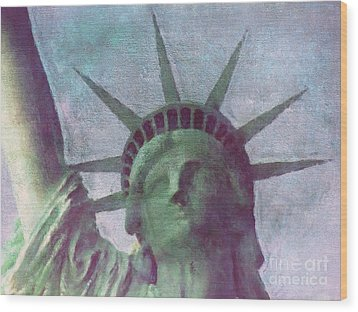 Statue Of Liberty Wood Print by Angela Doelling AD DESIGN Photo and PhotoArt