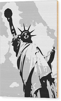 Statue Of Liberty Bw3 Wood Print by Scott Kelley