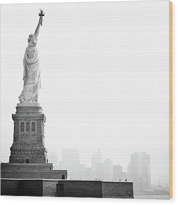 Statue Of Liberty Wood Print by Image - Natasha Maiolo
