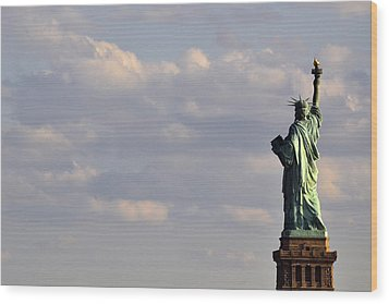 Wood Print featuring the photograph Statue Of Liberty by Zawhaus Photography