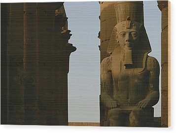 Statue Of Ramses II In The Luxor Temple Wood Print by Kenneth Garrett