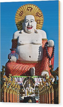 Statue Of Shiva Wood Print by Adrian Evans