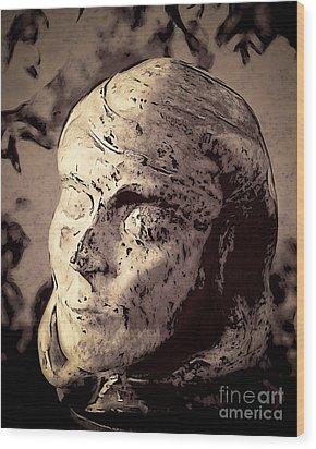 Statuesque  Wood Print by Arne Hansen