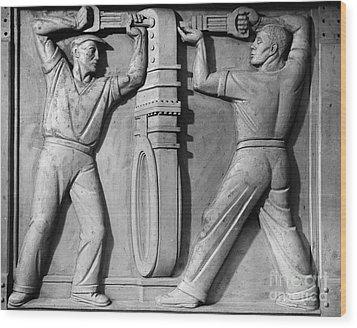 Stea: Sewage Workers Wood Print by Granger