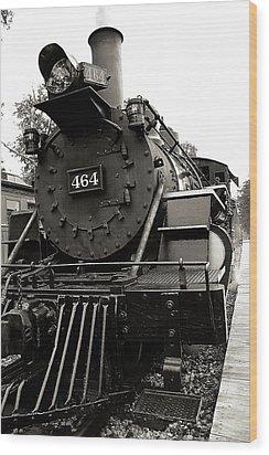 Steam Engine 464 Wood Print by Scott Hovind