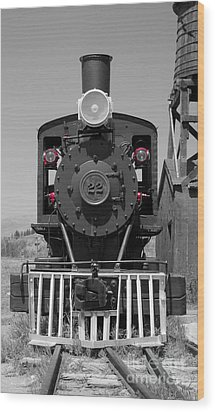 Wood Print featuring the photograph Steam Engine Train by Deniece Platt