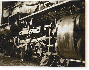 Steam Power II Wood Print by Ricky Barnard