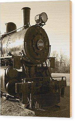 Steam Power Wood Print by Ricky Barnard