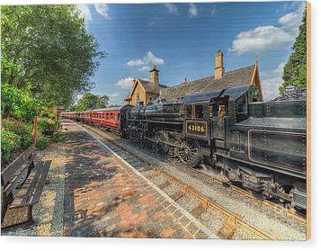 Steam Train Wood Print by Adrian Evans
