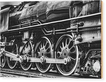 Steam Train No 844 - IIi Wood Print by Donna Greene