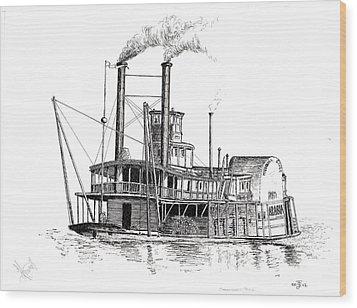 Steamboat Bill   The Arabia Wood Print by John Simlett