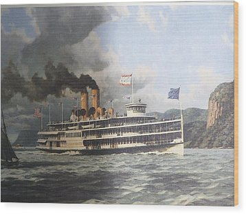 Steamer Alexander Hamilton William G Muller Wood Print by Jake Hartz