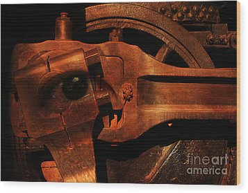 Steampunk Part Number 93063 Ghost In The Machine Wood Print by Wingsdomain Art and Photography