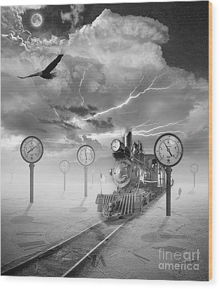 Steampunk Traveler Wood Print by Keith Kapple