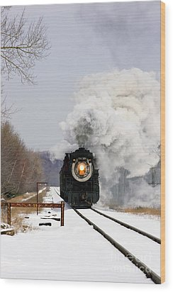Steamtown Excursion Train Wood Print by Michael P Gadomski and Photo Researchers