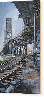 Steel Bridge 2012 Wood Print