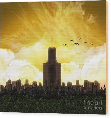 Steel City Dawn Wood Print by Thomas OGrady