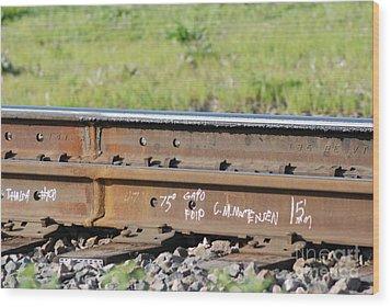 Steel Tracks Wood Print by Mark McReynolds