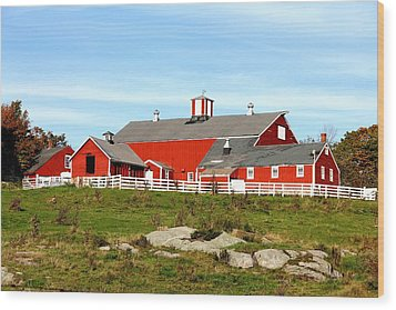 Steele Hill Farm Wood Print