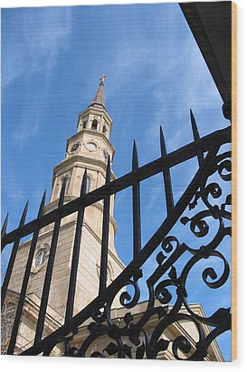 Wood Print featuring the photograph Steeples by Lyn Calahorrano