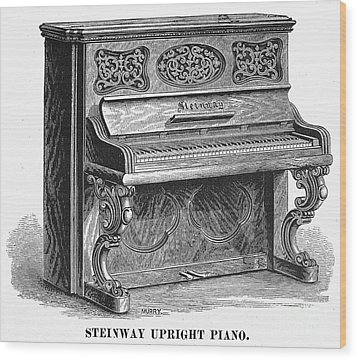 Steinway Piano, 1878 Wood Print by Granger