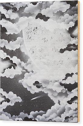 Stellar Moon Wood Print by Stephen Ford