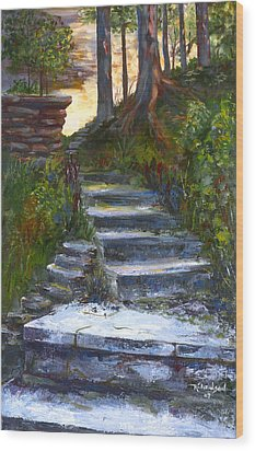 Wood Print featuring the painting Step To The Light by George Richardson