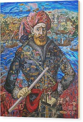 Stepan Razin Charming Letters  Wood Print by Andrey Soldatenko